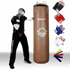 TurnerMAX Genuine Leather Punch Bag Heavy Bag Boxing Bag mma gear Natural Brown