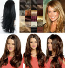 Long Reversible Wig Straight side and Flick side with flexible clips Angelina