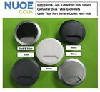 60mm Plastic Desk Cap, Desk Cable Cover, Desk Caps, Desk Inserts, Cable Tidys