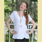 OH MY GAUZE  Cotton Side-Ruched  SWEET  Top  1 (M/L) 2 (L/XL) 3 (1X)  SNOW