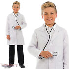 CHILDS BOYS GIRLS DOCTORS COAT SCIENCE LAB FANCY DRESS COSTUME