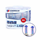H4 Night Light Headlight Bulbs - 12v Xenon +90% Brighter White AP v9