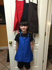 OLDER CHILD'S APRON PERSONALIZED LARGER SIZES BLACK, RED, BLUE, HOT PINK *****