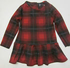 Girls dress red check ex store NEXT age 3 4 5 6 7 8 9 10 11 12 13 14 15 16 years