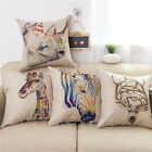 Retro Print Linen Animals Cushion Cover Throw Pillow Case Home Sofa Car Decor