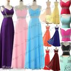 Long A-line Women's Straps Bridesmaid Evening Formal Party Prom Dress Size 6-22