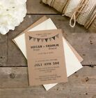 Bunting Collection Wedding Invitation A6 Postcards With Choice of Envelopes