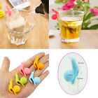 5/10/20x Cute Snail Shape Silicone Tea Bag Holder Cup Mug Candy Colors Gift Set