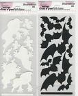 "U CHOOSE Stampendous GHOSTS BATS velvet flat Stickers 4"" X8"""