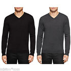 NWT Calvin Klein CK Men 100% Extra Fine Merino Wool Luxurious V-Neck Sweater