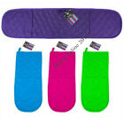 NEW BRIGHTS DOUBLE OVEN GLOVE MITT QUILTED 100% COTTON BLUE GREEN PURPLE OR PINK