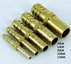 Metal Brass Straight Hose Joiner Barbed Connector Air Fuel Water Pipe Gas Tubing