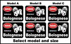 2 Warning protected by Bolognese guard dog breed decals sticker stickers