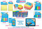 Sticky Memo Notes Pad Index Highlighter Tabs Stripes Pencil Tabs Sticky Memo Pad