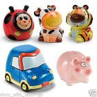 Hand Painted Ceramic Kids Animal Car Piggy Bank Money Box Savings Coin Cash Gift