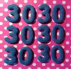 Edible 2cm NUMBERS or LETTERS Cupcakes toppers Cakes Decoration Icing Sugarpaste