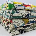 CT VW Camper Beetle Vespa Retro Cars Japanese Linen Cotton Fabric