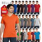 Bella + Canvas Short Sleeve Unisex V-Neck Jersey XS-XL T-Shi