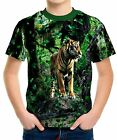 New Cool Tiger Boys Kid Youth T-Shirt Tee Age 3-13