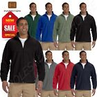 Harriton Jacket Men's 8 oz Full-Zip Fleece Solid BIG SIZES 2X-6XL B-M990