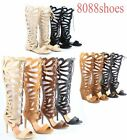 Women's  Lace Up Open Toe Gladiator High Heel Wedge Flat Sandal Size 5.5 - 10