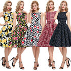 Women Vintage 1950's Swing Housewife Pinup Evening Party Prom Dress