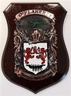 MESKILL to MINIHANE Family Name Crest on HANDPAINTED PLAQUE - Coat of Arms