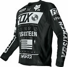 Fox Racing Mens Black/White Nomad Dirt Bike Jersey MX ATV 2016