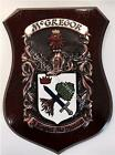 Beresford to Blackburn Family Handpainted Coat of Arms Crest PLAQUE Shield