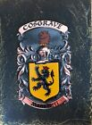 Handpainted COAT OF ARMS Crest Shield on SLATE - Bonner to Brabazon