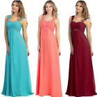 New Woman's Long Bridesmaid Evening Formal Party Prom Dress Size 6 -22