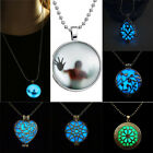 2016 Glowing Necklace Steampunk Magic Locket Love Glow In The Dark Pendant Chain