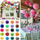 5PCS Tissue Paper Pom Flower Balls Wedding Party Home Decor 15/20/25/30CM hot