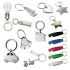 Metal Key Ring - Mothers Day Gift Star Heart Car House Diamante Chain Lightbulb