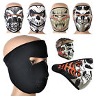 Skull Skeleton Full Face Mask Neoprene Reversible Motorcycle Ski Snow Biker Warm