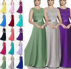 New Long Chiffon Woman's Long Evening Bridesmaid Formal Party Dress Size 6 -22