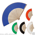10 x Chinese Bamboo Fan Folding Hand Fans Outdoor Wedding Party Favors Decor Sun