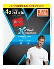 4-Pack Hanes Men's X-Temp® Comfort Cool® Dyed WHITE Crewneck T-Shirts S-XL-Best