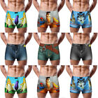 Stylish Men's 3D Cartoon Cotton Shorts Denim Jeans Boxer Briefs Underwear Casual