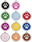 Kyпить Red Dingo Stainless Steel Enamel PAW PRINT Engraved Dog ID Tag — Pick Size/Color на еВаy.соm