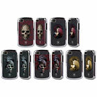 ANNE STOKES ORIENTAL SKULL BLACK CHROME GLITTER CASE FOR BLACKBERRY PHONES