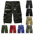 Cool Men's Army Cargo Combat Camo Camouflage Overall Shorts Sports Pants Stylish