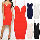 NEW LADIES STRAPPY MIDI BANDAGE DRESS RIBBED PANEL WOMEN BODYCON SLEEVELESS CAMI