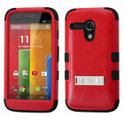 Red Durable Shock Absorbent Hard Hybrid Tuff Phone Case Cover Protector Stand