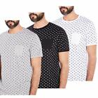 MENS SHORT SLEEVE SPOTTED CREW NECK T-SHIRT CASUAL TOP (ZONE) BY BRAVE SOUL