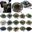 Unisex Men Hunting Hat Military Army Cap Boonie Outdoor Fishing Wide Brim Bucket