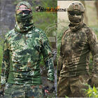 Kryptek Fast Quick dry Outdoor Men's Long Sleeve Tactical T-shirts Camouflage