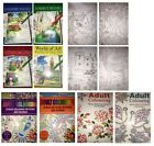 Adult Colouring Books World of Art Hobby Therapy Relaxing A4 Drawing Scenes