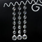 5 Pcs Clear Crystal Glass Faceted Chandlier Lamp Pendant Findings Beads Wedding