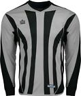 New Admiral Bayern Padded Soccer Goalie Goal Shirt Silver/ Black Youth S-L
